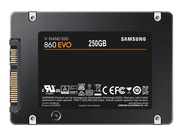 Samsung Memory MZ-76E250 860 EVO 250 GB Internal SSD, SATA, 2.5