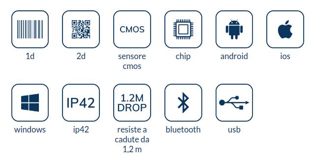Newland bar-code and QR-code reader Model: NL BS80 2D CMOS BT SCANNER 370 DEC